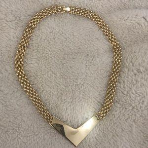 Vintage Gold Necklace Choker Korea